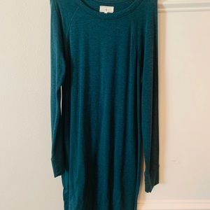 Lou and Grey Teal Long Sleeve Dress